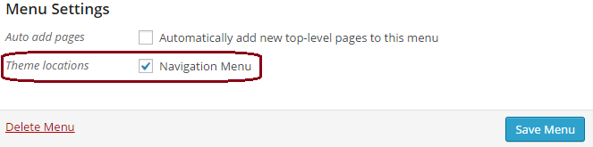 WordPress Menus