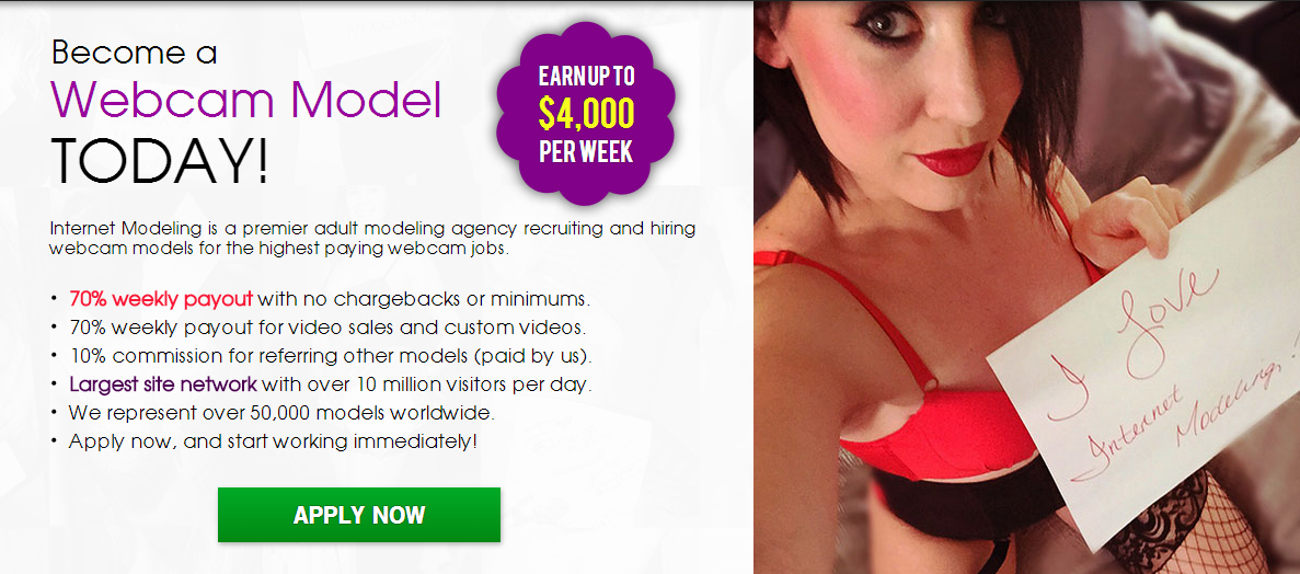 Get paid for adult web cam shows