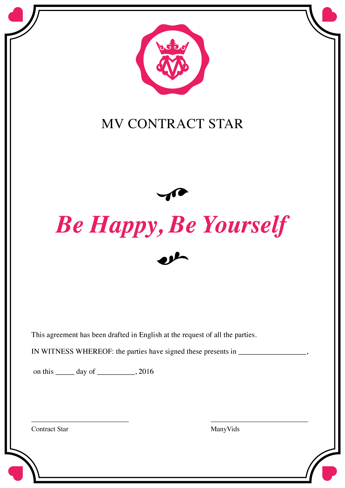 The ManyVids Contract and Conditions