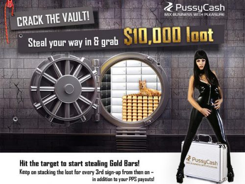 PussyCash Affiliate Summer Promotion: Crack The Vault