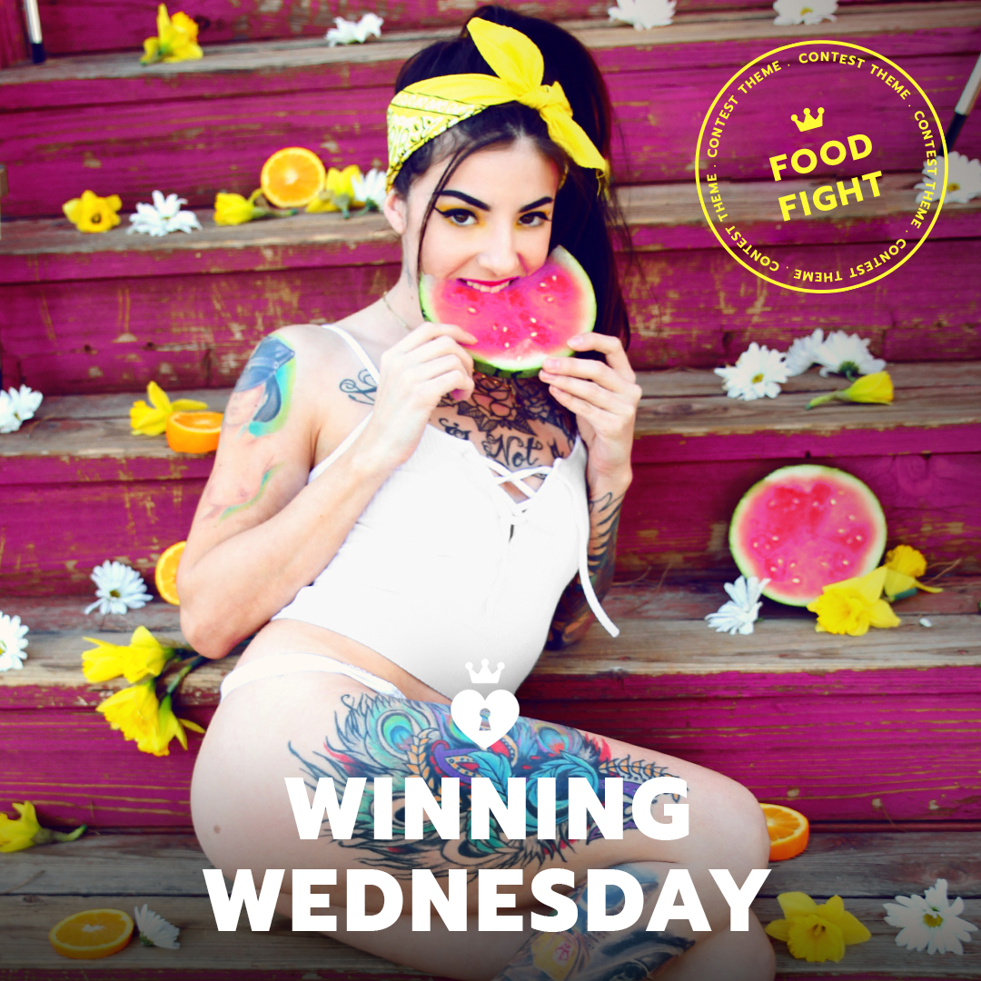 ManyVids Winning Wednesday 9/6/17 - Food Fight Themed Competition