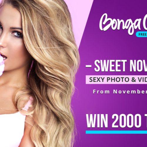 BongaCams Sweet November Contest – Nov 10-30th 2017