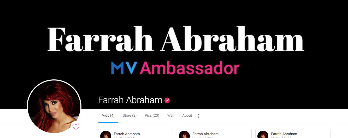 Farrah Abraham ManyVids Ambassador