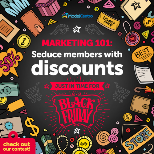 ModelCentro's New Discount Feature + Black Friday Contest