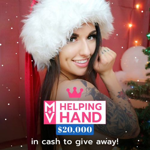 ManyVids Helping Hand – December 2017 ($20,000 Giveaway)