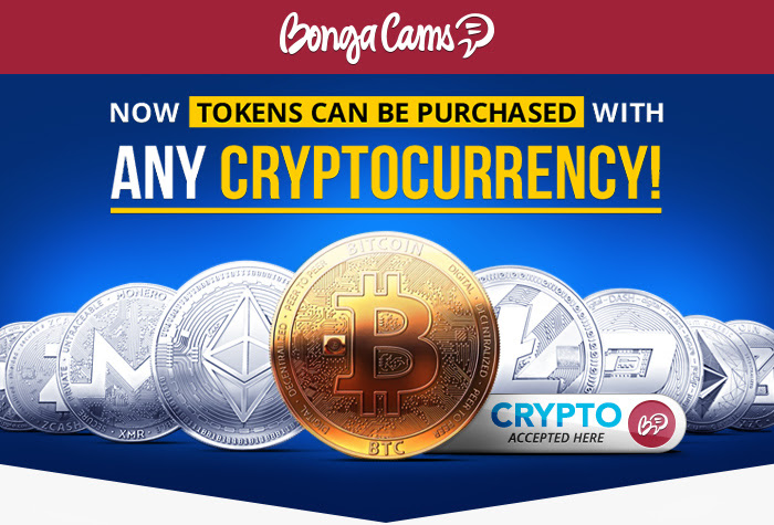 Buy BongaCams Tokens With Crypto Currencies