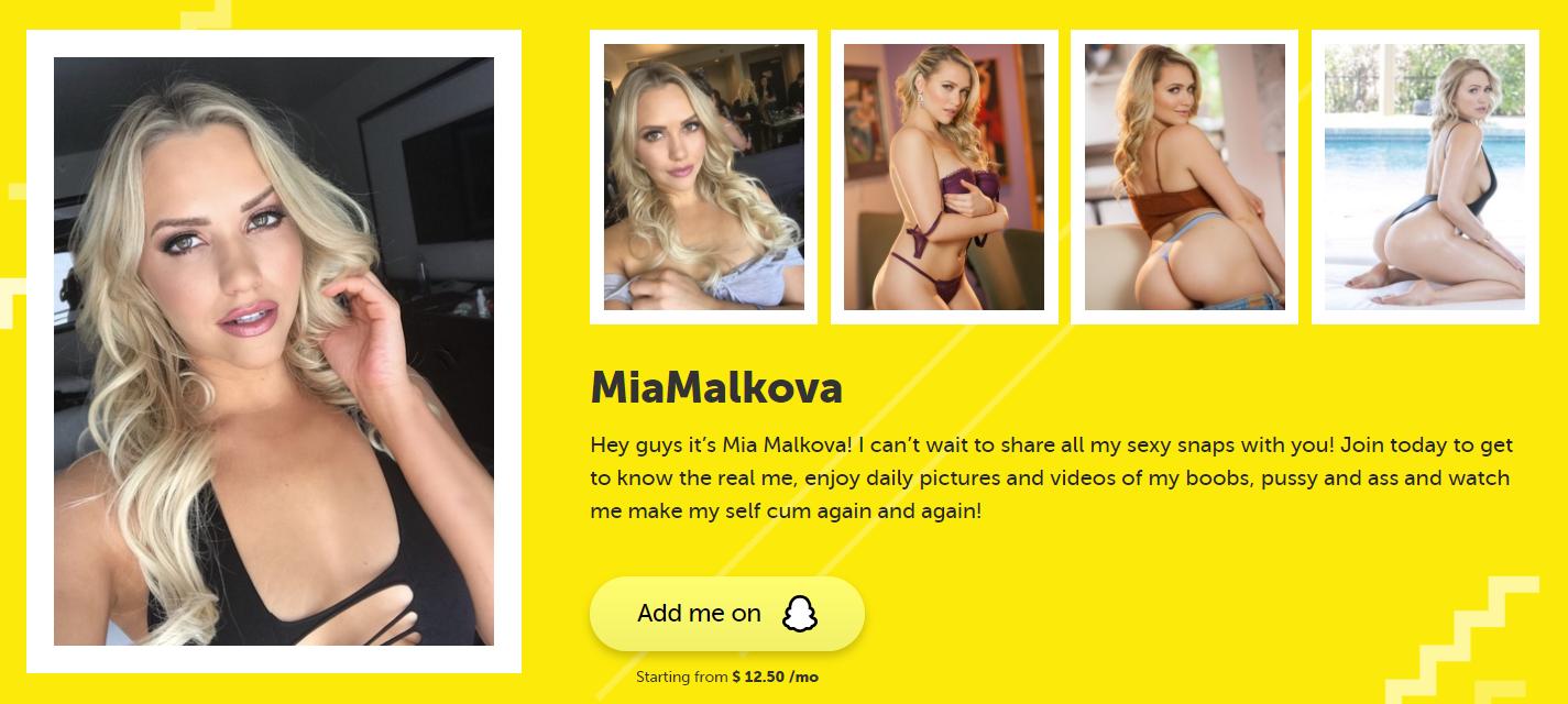 Mia Malkova Snapchat