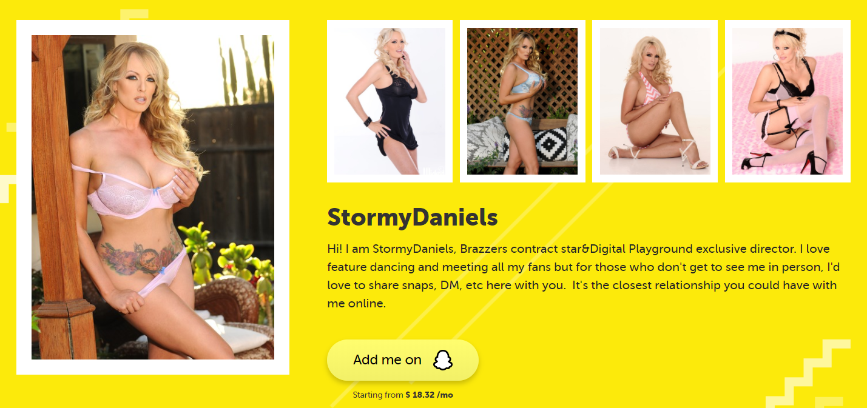 Stormy Daniels Premium Snapchat