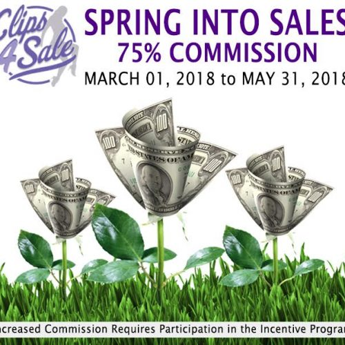 """Clips4Sale """"Spring Into Sales"""" Special – 75% Commissions (2018)"""