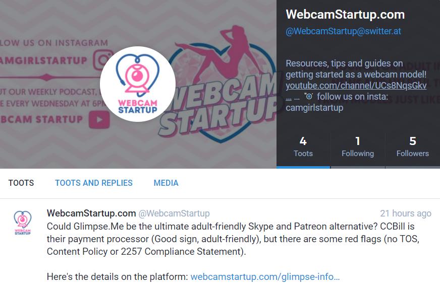 Webcam Startup Switter