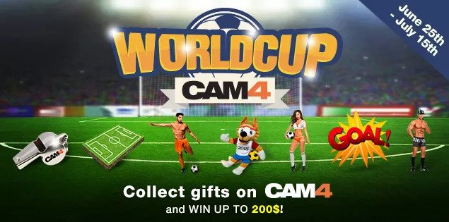 CAM4 2018 World Cup Gift Contest