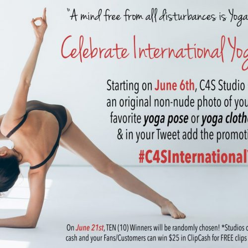 Clips4Sale National Yoga Day Contest: Starts June 6th, 2018