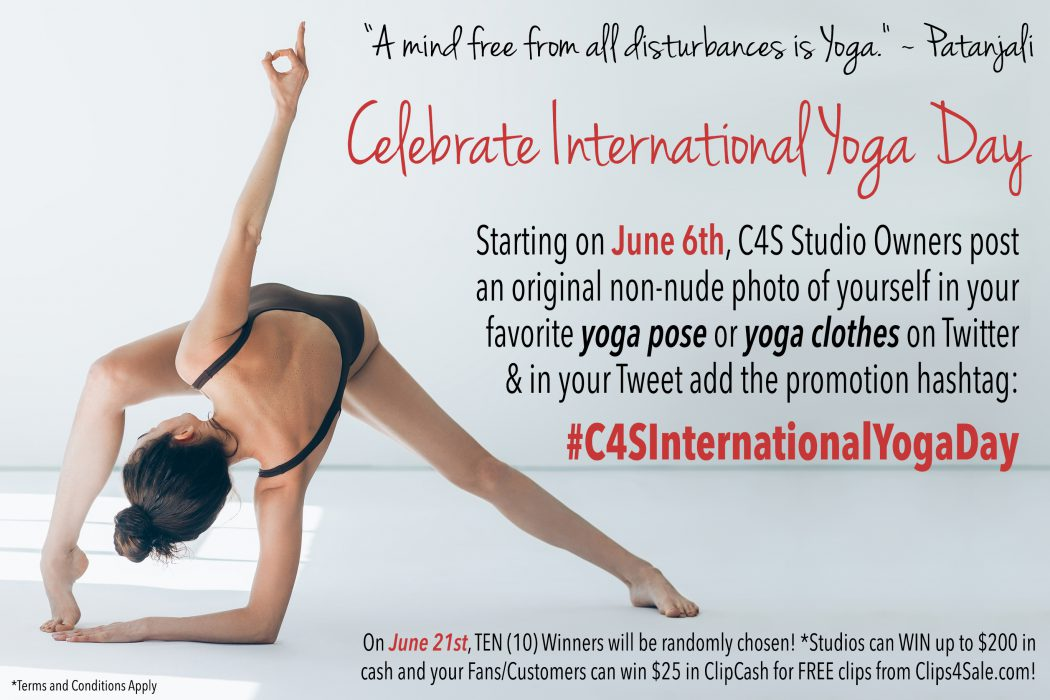 Clips4Sale 2018 National Yoga Day Promotion