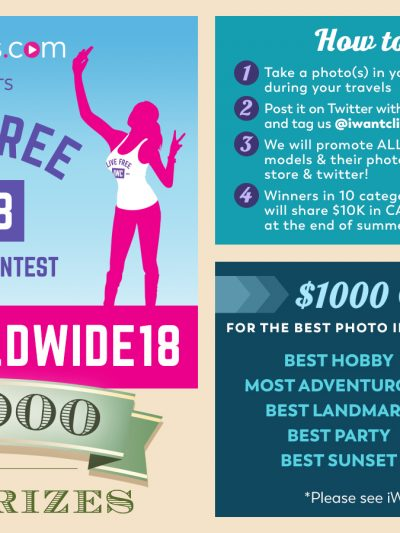 iWantClips 2018 Summer Photo Contest: #IWCWorldwide18