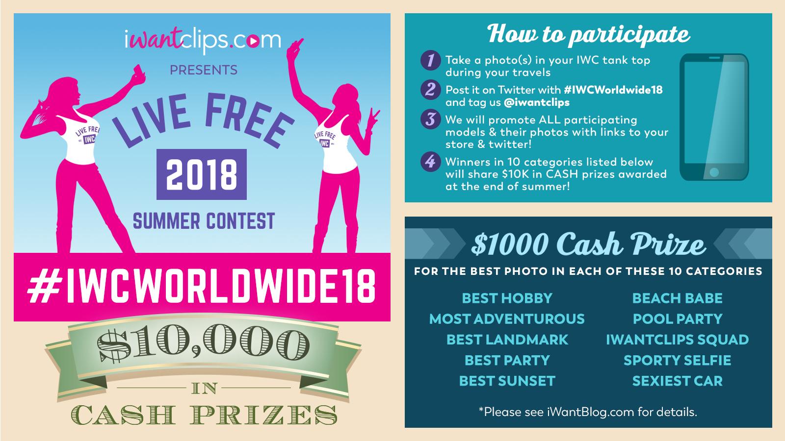 iWantClips 2018 Summer Photo Contest: #IWCWorldwide18