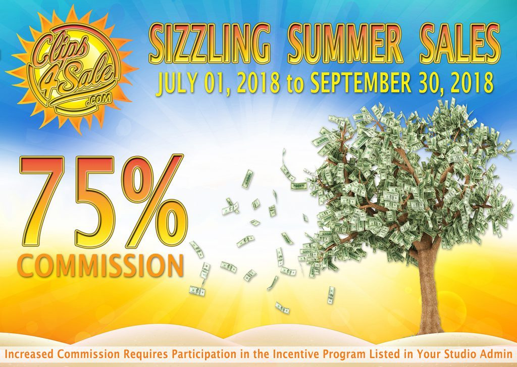 Clips4Sale 2018 Sizzling Summer Sale Promotion