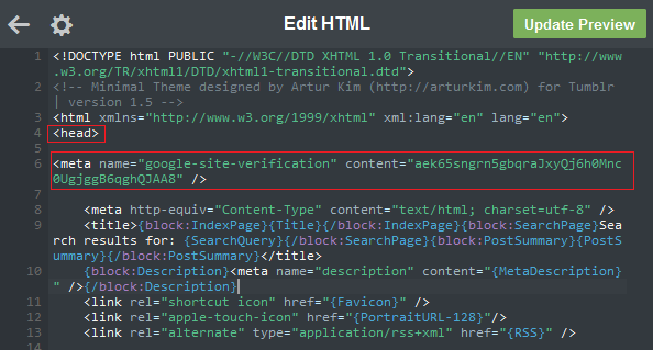 Tumblr Javascript In Header