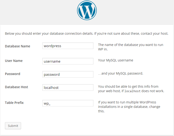 WordPress Configuration