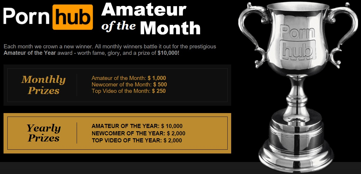 Compete In The Pornhub Amateur Of The Month Contest and Win!