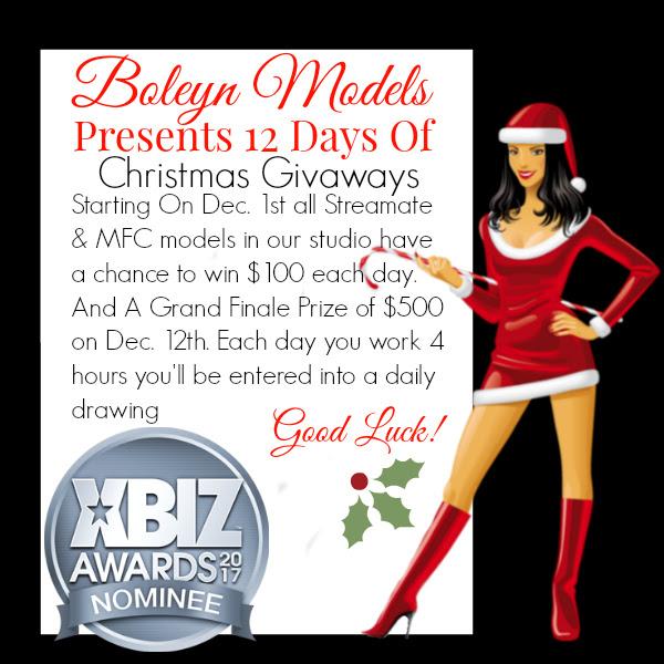 2016 Boleyn Models 12 Days of Christmas Giveaways