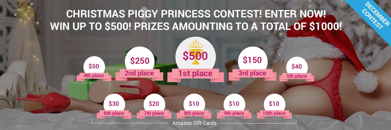 Prizes For The Christmas Piggy Princess Competition