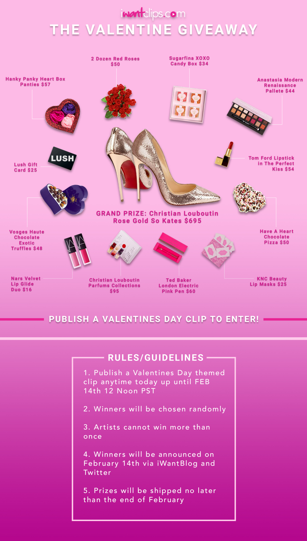 iWantClips 2018 Valentine's Day Giveaway
