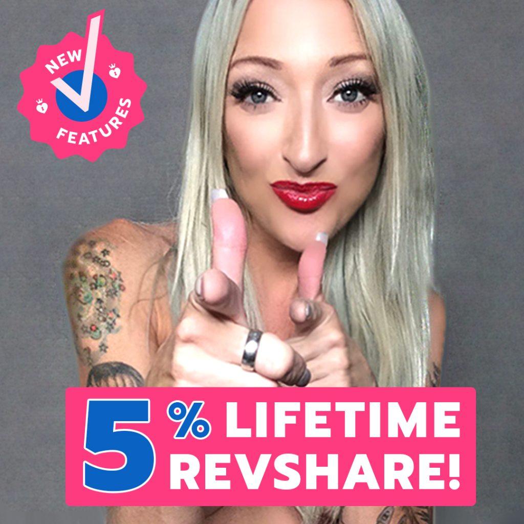 ManyVids 5% Lifetime Revshare On Model Referrals