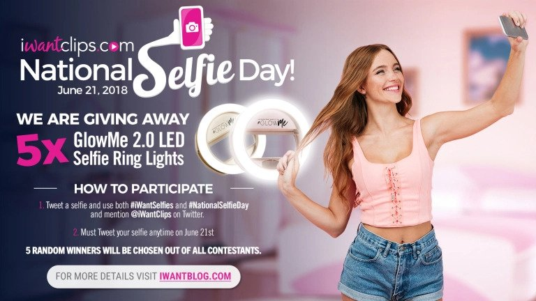 iWantClips 2018 National Selfie Day Giveaway