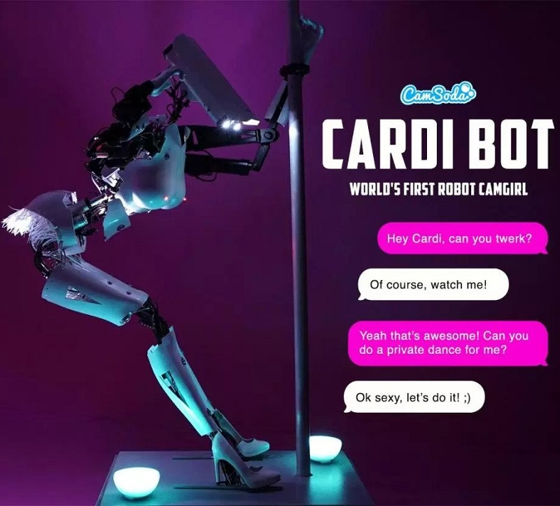 Cardi Bot: Robot Camming Model On CamSoda