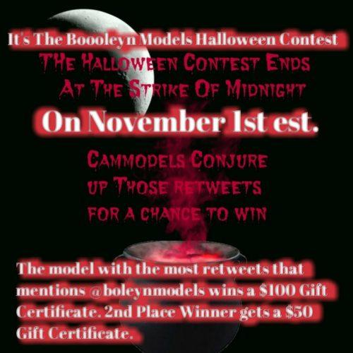BoleynModels 2018 Halloween Twitter / Retweet Contest