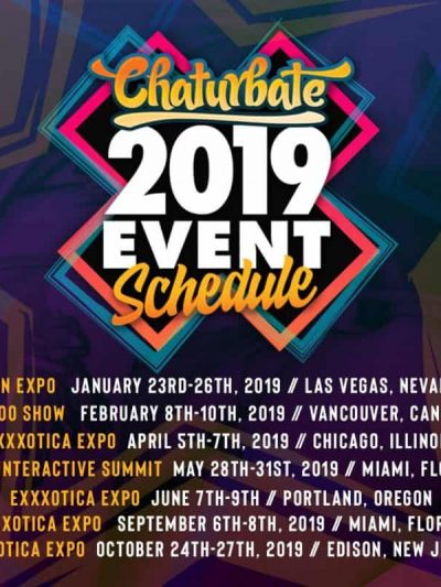 Chaturbate Releases Their 2019 Show Schedule