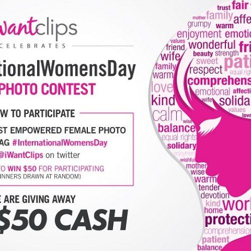 iWantClips 2019 International Women's Day Raffle
