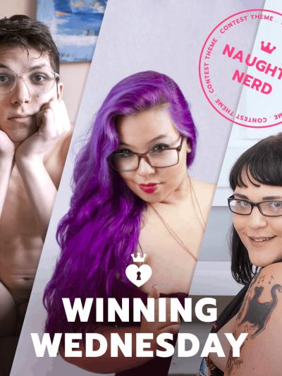 ManyVids Winning Wednesday: Naughty Nerd Contest – 3/27/19